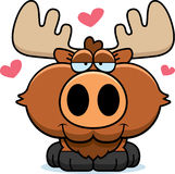 Cartoon Moose Love Stock Photography