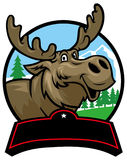Cartoon moose mascot Royalty Free Stock Images
