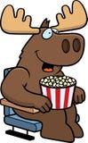 Cartoon Moose Movies Royalty Free Stock Image