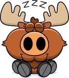 Cartoon Moose Napping Stock Photography