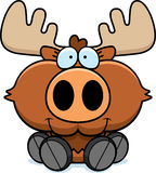 Cartoon Moose Sitting Royalty Free Stock Photography