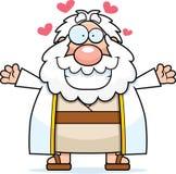 Cartoon Moses Hug Stock Image