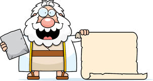 Cartoon Moses Scroll Royalty Free Stock Photo