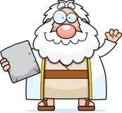 Cartoon Moses Waving Royalty Free Stock Image