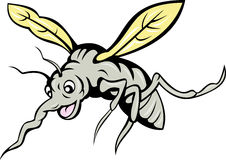 Cartoon mosquito insect fly Royalty Free Stock Photography