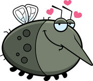 Cartoon Mosquito in Love Royalty Free Stock Photography