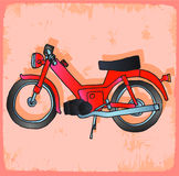Cartoon moto illustration, vector icon. Stock Image