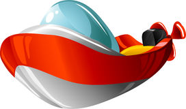 Cartoon motorboat Royalty Free Stock Images