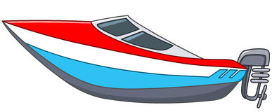 Cartoon motorboat stock illustration