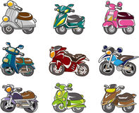 Cartoon motorcycle Royalty Free Stock Image