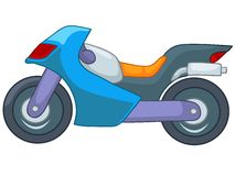 Cartoon Motorcycle Stock Image
