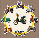 Cartoon motorcycle card Stock Photo