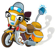 Cartoon motorcycle - caricature Royalty Free Stock Images