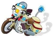 Cartoon motorcycle - caricature Stock Photography