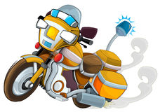 Cartoon motorcycle - caricature - illustration for the children Royalty Free Stock Photography