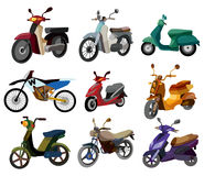 Cartoon motorcycle icon. Vector drawing Royalty Free Stock Photography