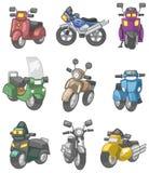 Cartoon motorcycle icon. Vector drawing Royalty Free Stock Image