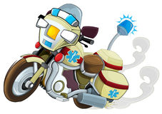 Cartoon motorcycle - illustration for the children Stock Images