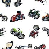 Cartoon Motorcycle seamless pattern Stock Photo