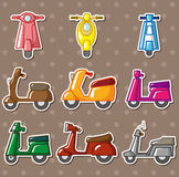 Cartoon motorcycle stickers Stock Photo
