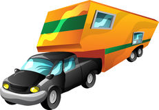 Cartoon Motorhome Stock Photos