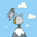Cartoon mountain goat Stock Photo