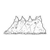 Cartoon mountain range Royalty Free Stock Photography