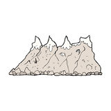 Cartoon mountain range Stock Photography