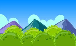Cartoon Mountains Landscape Stock Image