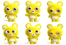 Cartoon mouse. 3d cartoon cute yellow mouse Royalty Free Stock Photography