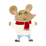Cartoon mouse Stock Images
