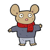 cartoon mouse in clothes Stock Photography