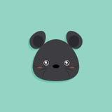 Cartoon mouse face Royalty Free Stock Photo