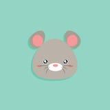Cartoon mouse face Stock Photos