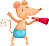 Cartoon mouse with loudspeaker royalty free illustration