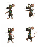 Cartoon Mouse - pack 3 Royalty Free Stock Photography