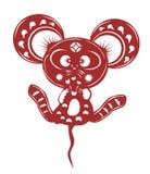 Cartoon mouse paper cut Royalty Free Stock Photos