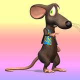Cartoon Mouse or Rat #07. Very cute mouse in cartoon style with various expressions and situations Stock Photography
