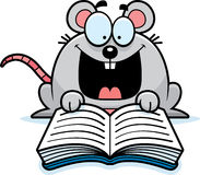 Cartoon Mouse Reading. A cartoon illustration of a mouse reading a book Royalty Free Stock Image