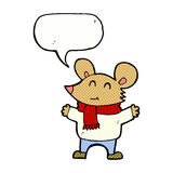 Cartoon mouse with speech bubble Royalty Free Stock Photography