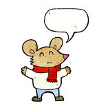 Cartoon mouse with speech bubble Royalty Free Stock Photo