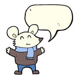 Cartoon mouse with speech bubble Stock Photo