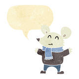 Cartoon mouse with speech bubble Stock Photography