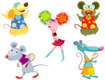Cartoon mouse sport Stock Images