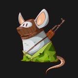 Cartoon mouse terrorist Stock Photography