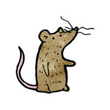 Cartoon mouse with twitchy nose Royalty Free Stock Photos