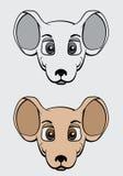 Cartoon mouse vector illustration. Cartoon mouse head vector illustration Royalty Free Stock Photos