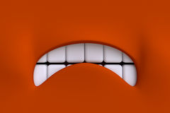 Cartoon mouth. Element character's face. Stock Photos