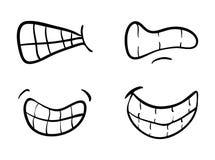 Cartoon mouth with  teeth set vector symbol icon design. Beautif Stock Photos