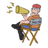 Cartoon movie director. Royalty Free Stock Images